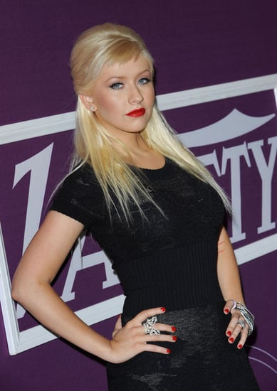 Christina Aguilera at the 1st Annual Power of Women luncheon