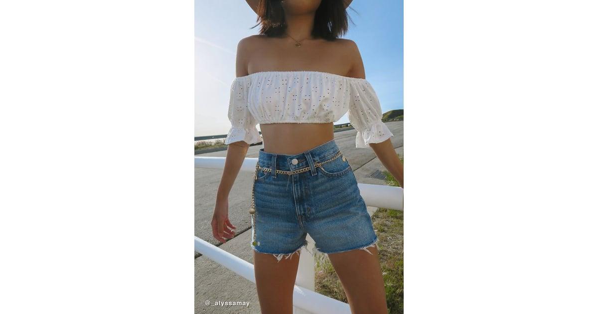 4d79b44d85 BDG Girlfriend High-Rise Denim Shorts in Tinted Denim | Best High-Waisted  Denim Shorts | POPSUGAR Fashion Photo 2