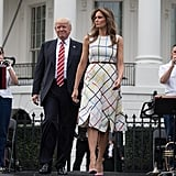 Though the Dress Didn't Come With a Belt, Melania Added One On