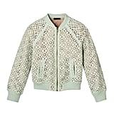 Girls' Mint Green Lace Bomber Jacket  ($25)