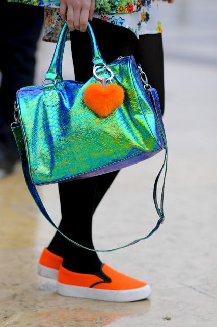 Orange you glad she added these bright accents? Source: Gorunway.com/Matteo Catena