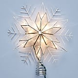 Illuminated Capiz Snowflake Tree Topper