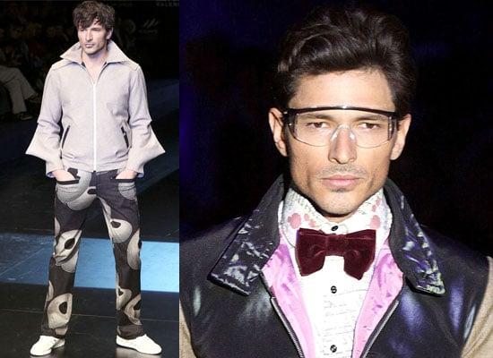 Photos of Kylie Minogue's Boyfriend Andres Velencoso on Catwalk at Valencia Fashion Week