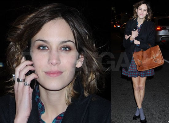 Photos of Alexa Chung outside MTV Studios in New York, Arctic Monkeys Will Be on It's On With Alexa Chung Today