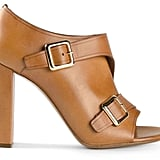 Chloe Buckled Open-Toe Bootie