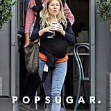 Sienna Miller enjoyed a sweet treat with her baby along for the ride.