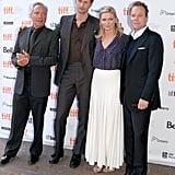 Alexander Skarsgard, Kirsten Dunst, and Kiefer Sutherland at the Melancholia premiere.