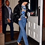 Kendall Jenner Attended Ben's Basketball Game in Fuzzy Heels
