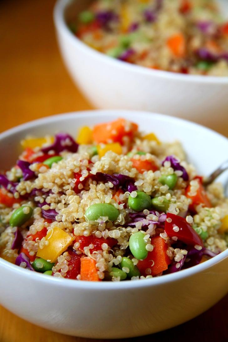 Rainbow Quinoa Salad Debloating Recipes Popsugar