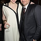 Gwendoline Christie and Nikolaj Coster-Waldau (aka Brienne of Tarth and Jaime Lannister) cuddled up at the Tower of London during the afterparty for the Game of Thrones season five premiere on Wednesday.