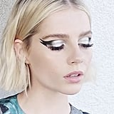 "Lucy Boynton Tries ""Galactic Kitty"" Winged Eyeliner"