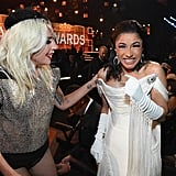Cardi B and Lady Gaga at the 2019 Grammys