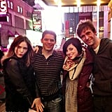 Debra Messing's Smash costars gathered for a group photo. Source: Debra Messing on WhoSay
