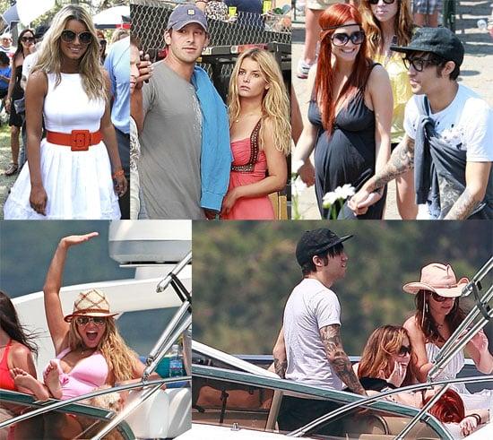 Photos of Jessica Simpson, Tony Romo, Ashlee Simpson, and Pete Wentz in Lake Tahoe