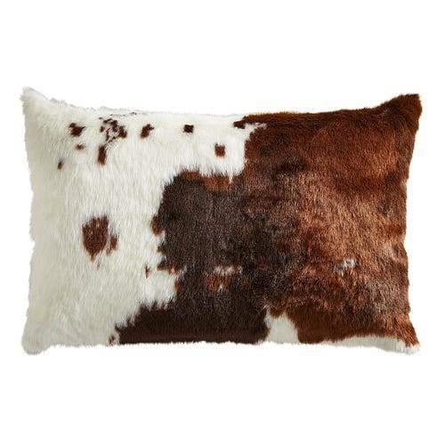 Faux Cowhide Lumbar Pillow