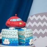 Rocket and Cloud Cake