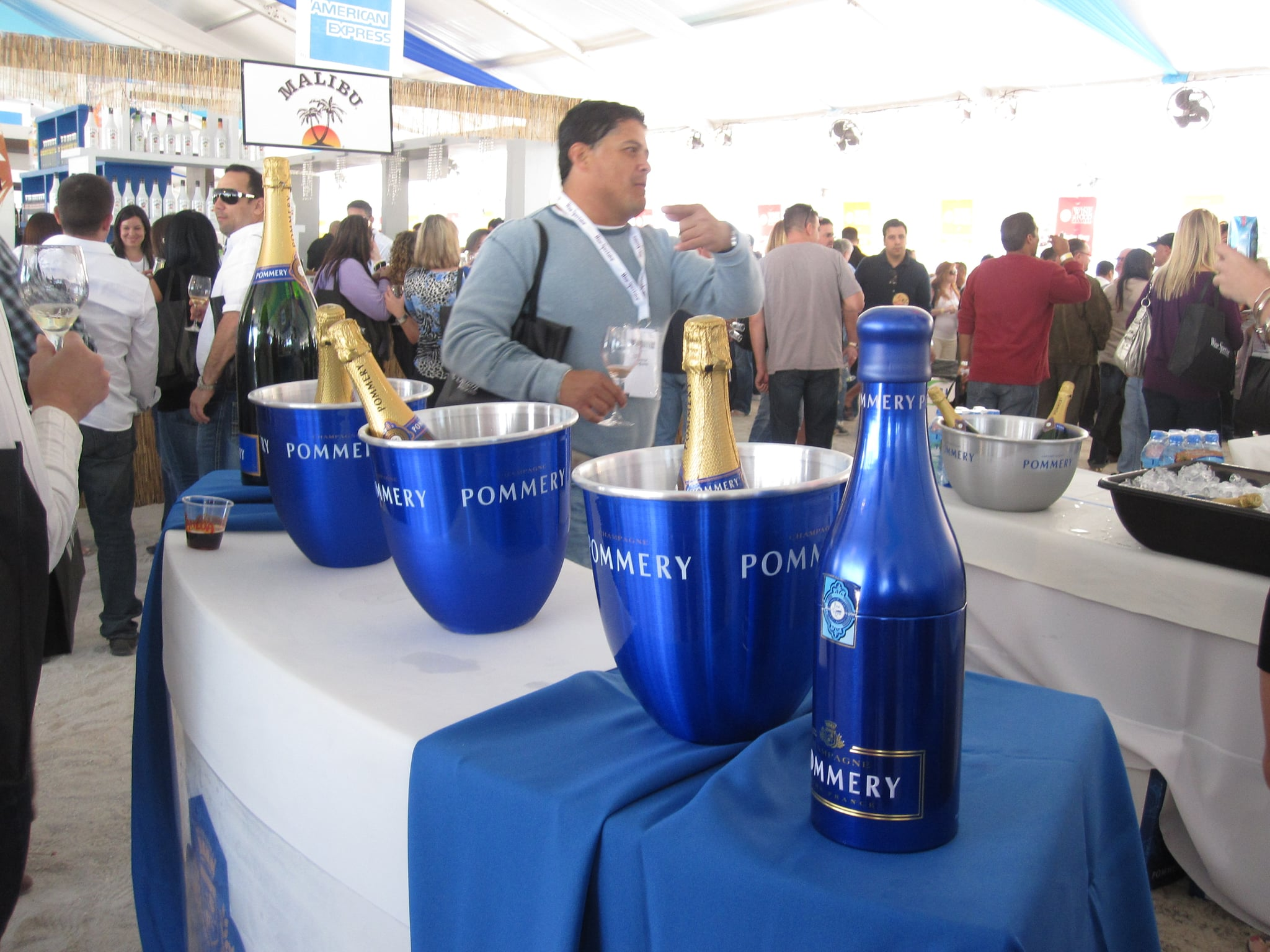 You can bet I hung out at this Pommery station for awhile.