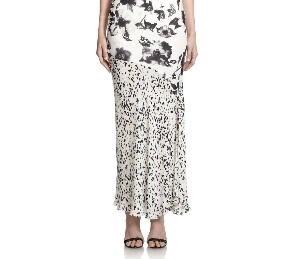 Haute Hippie Mixed Print Maxi Skirt
