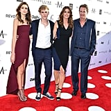 Cindy Crawford and Family at Daily Front Row Awards 2017