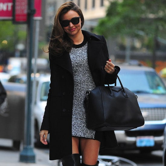 Miranda Kerr Wearing Black Thigh High Boots