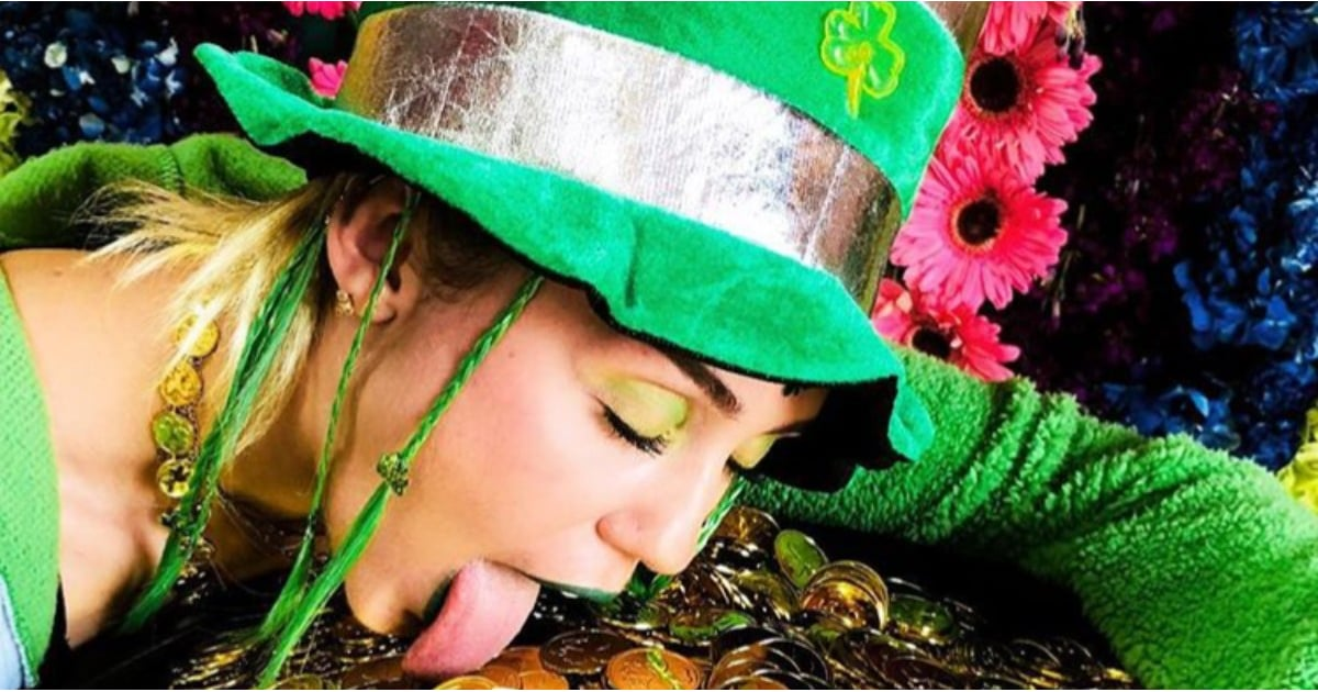 Miley Cyrus and Liam Hemsworth Went All Out For St. Patrick's Day, and We Can't Look Away