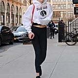 Gigi Hadid Orange Furla Backpack