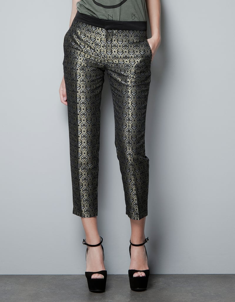 We'd wear Zara's gunmetal version just like a neutral against all our other seasonal staples. Zara Jacquard Loom Trousers ($80)