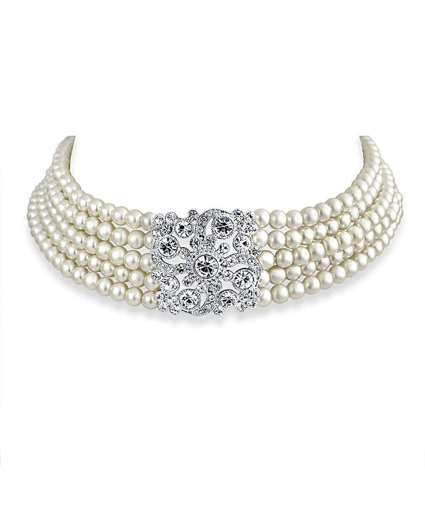 Bling Jewelry Pearl Choker Necklace