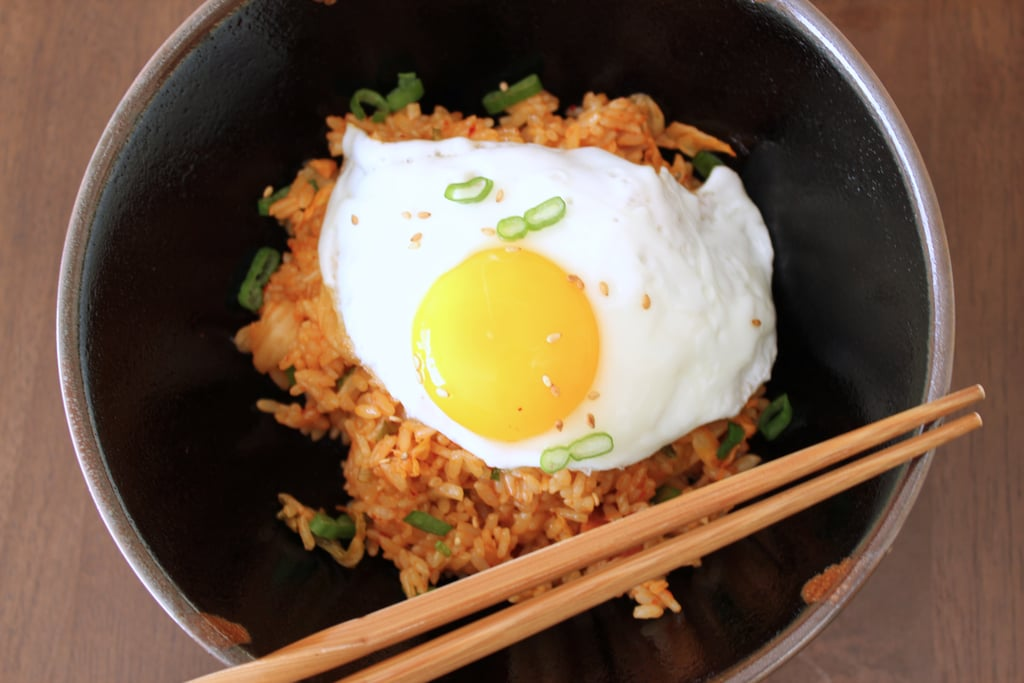 Kimchi fried rice recipe popsugar food kimchi is one of those foods that either makes people drool or recoil in horror a staple of the korean diet the spicy fermented cabbage is as pungent and ccuart Images