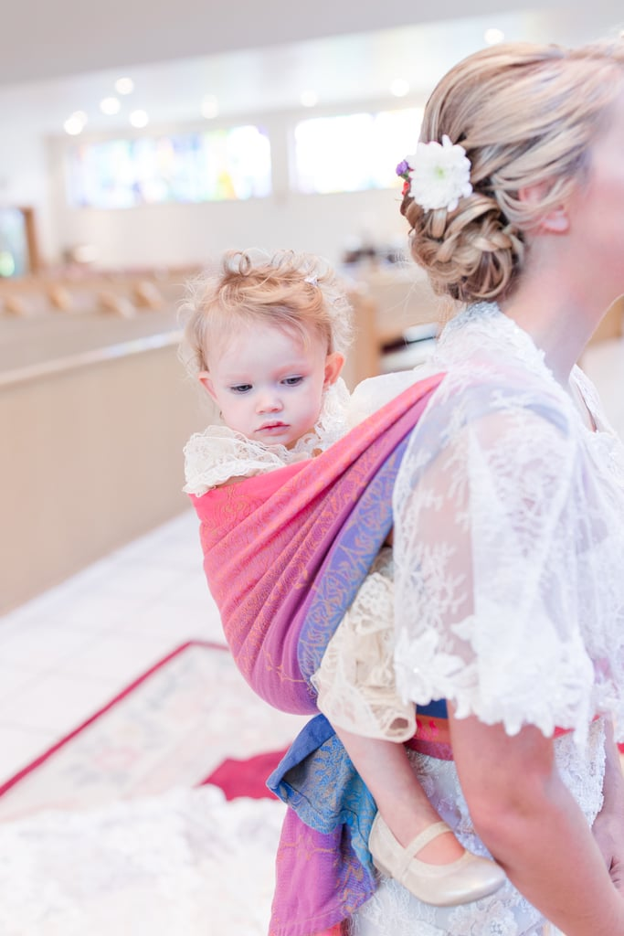 Photos of a Bride Wears Toddler During Her Wedding