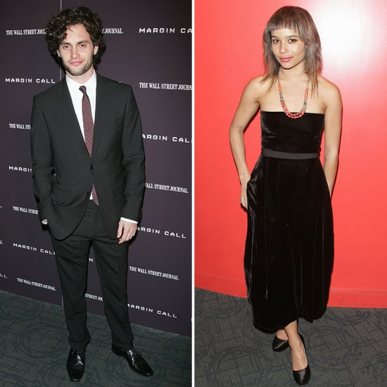 Penn Badgley and Zoe Kravitz Margin Call Premiere Pictures ...