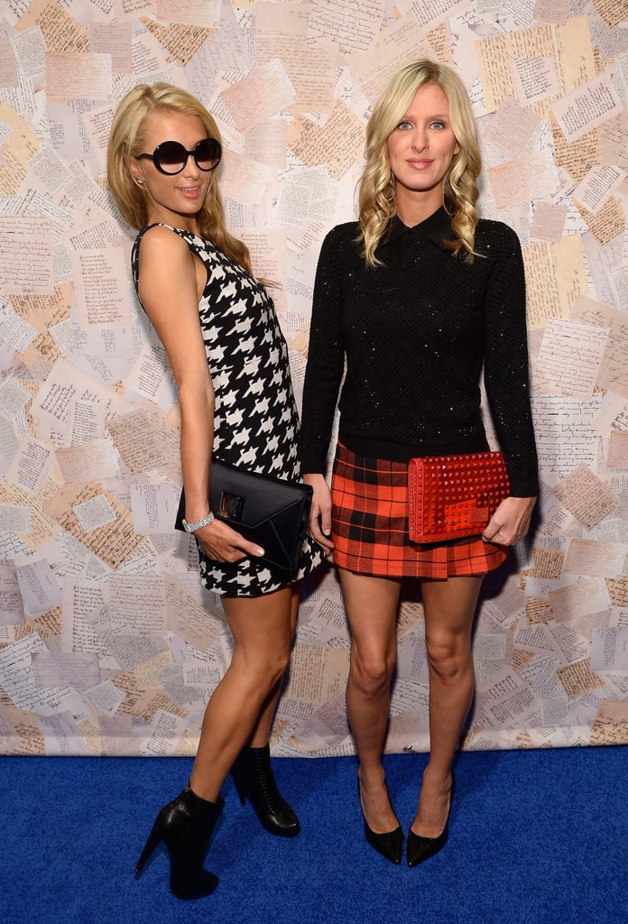 Paris and Nicky Hilton posed together at the alice + olivia presentation on Monday.