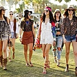 Proof that the most stylish festivalgoers don't leave home without a hat, a headscarf, and a few fringe details.