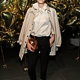 Alexa Chung outfits a sweet look.