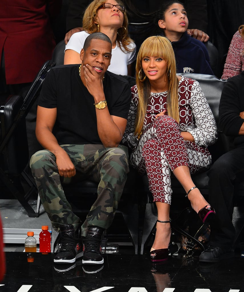 Jay-Z and Beyoncé Knowles went to the Nets home opener.