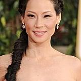 Lucy Liu's Fishtail Braid in 2013