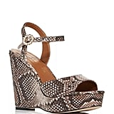 Kurt Geiger Archer Snake-Embossed Wedge Platform Sandals