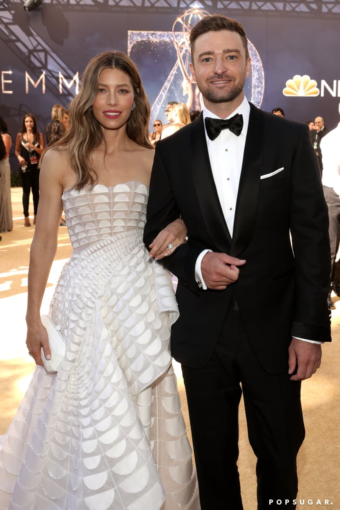 We don't know how it's possible, but Justin Timberlake and Jessica Biel somehow get cuter every time we see them. On Monday, the couple looked like they dropped straight out of heaven and onto the red carpet when they arrived at the Emmys. Justin cut a suave figure in a black tux, while Jessica stunned in a beautiful white gown. Anybody else getting wedding flashbacks? Jessica and Justin have a lot to celebrate; not only is Justin's Super Bowl LII Halftime show nominated for outstanding directing for a variety special, but Jessica is up for outstanding lead actress in a limited series or movie for her role as Cora Tannetti in The Sinner. Oh, and let's not forget that Jessica and Justin will be ringing in their sixth wedding anniversary on Oct. 19. What an exciting time for the Timberlakes!       Related:                                                                                                           These Emmy Looks Will Hold Your Attention Longer Than a Netflix Binge