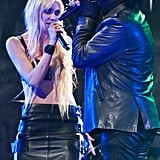 Taylor Momsen performed with Marilyn Manson at the Revolver Golden God Awards in LA.