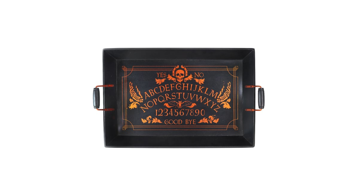 boutique halloween wood skull serving tray halloween decor from target popsugar home photo 20