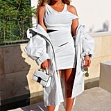 Looking Like an Angel in a White Minidress