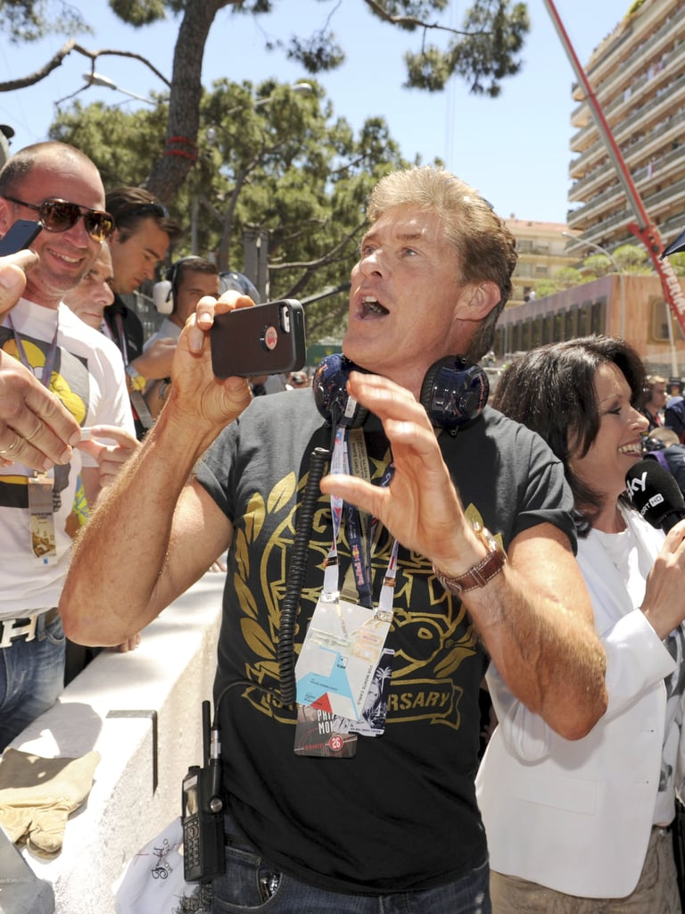 David Hasselhoff took his own snap of the crowd while at Saturday's Grand Prix in Monaco.