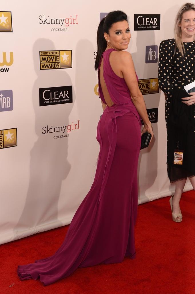 Eva Longoria hit the red carpet at the Critics' Choice Awards.