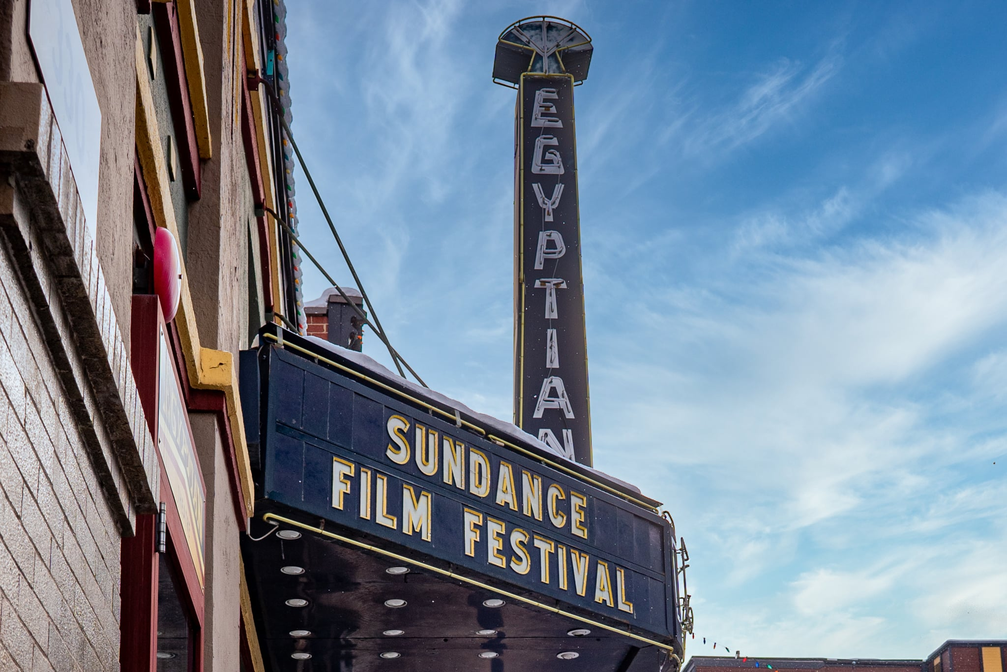PARK CITY, UTAH - JANUARY 27: General view of the Egyptian Theatre on Main Street on January 27, 2021 in Park City, Utah. The Sundance Film Festival is going virtual this year due to the COVID-19 pandemic. (Photo by Mark Sagliocco/Getty Images)