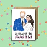 Prince Harry and Meghan Markle Greeting Card