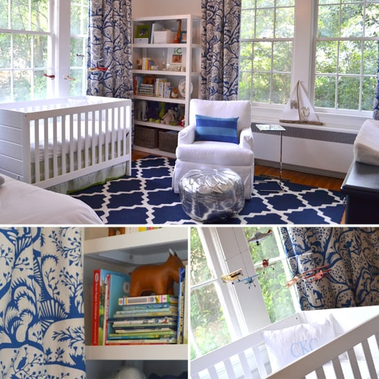 Claude's Sophisticated, Glam Navy and White Nursery