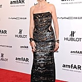 Heidi Klum attended the 2012 amfAR gala in NYC.