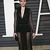 Lily Collins With a Pixie Haircut