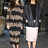 Julia Restoin Roitfeld and Carine Roitfeld at the opening of Dolce & Gabbana's Fifth Avenue boutique. Matteo Prandoni/BFAnyc.com