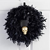 Black Feather and Skull Wreath ($25)